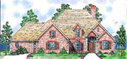 Traditional Style Home Design Plan: 3-161