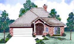 Traditional Style Home Design Plan: 3-162