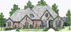 French-Country Style House Plans Plan: 3-163
