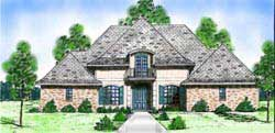 French-Country Style House Plans Plan: 3-167