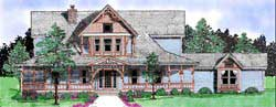 Victorian Style House Plans Plan: 3-169