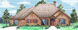 Traditional Style Home Design Plan: 3-171