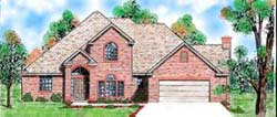 Traditional Style Home Design Plan: 3-175