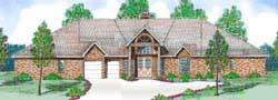 Traditional Style House Plans Plan: 3-176