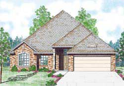 Traditional Style Home Design Plan: 3-180