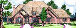 Traditional Style Home Design Plan: 3-182