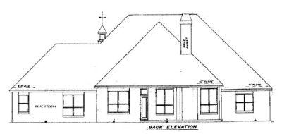 Rear Elevation Plan: 3-186