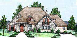 English-Country Style Home Design Plan: 3-186