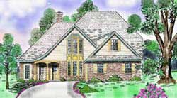 French-Country Style Floor Plans Plan: 3-187