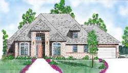 Traditional Style Home Design Plan: 3-189