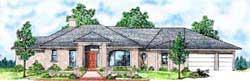 Contemporary Style Home Design Plan: 3-193