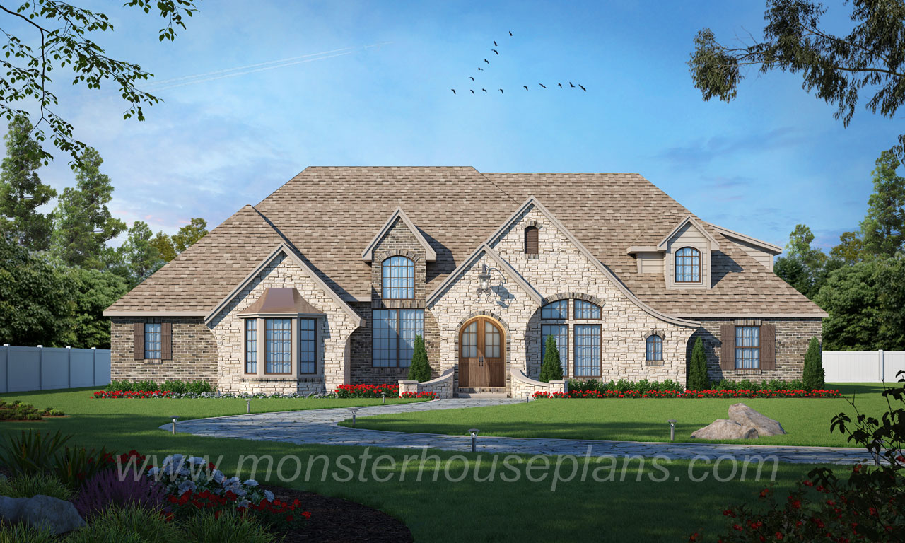 French-country Style House Plans Plan: 3-194