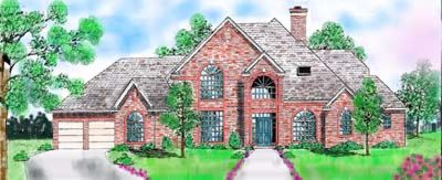 Traditional Style Home Design Plan: 3-199