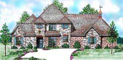 Traditional Style Home Design Plan: 3-200