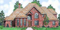 European Style House Plans Plan: 3-201
