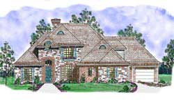 French-Country Style Floor Plans Plan: 3-205