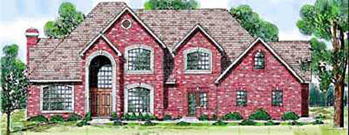 Traditional Style Home Design Plan: 3-210