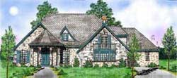 French-Country Style Floor Plans Plan: 3-212