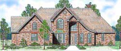 French-Country Style Floor Plans Plan: 3-213