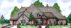 European Style House Plans 3-214