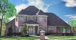 European Style House Plans Plan: 3-218