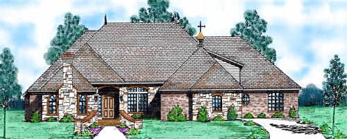 Traditional Style Home Design Plan: 3-219