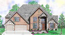 Traditional Style Home Design Plan: 3-222