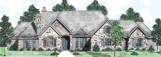 English-country Style Floor Plans Plan: 3-224
