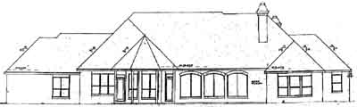 Rear Elevation Plan: 3-224