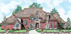 European Style Home Design Plan: 3-231
