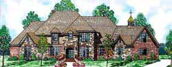 Traditional Style Home Design Plan: 3-233