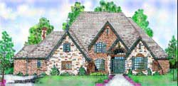 European Style Floor Plans Plan: 3-234