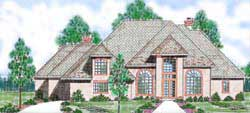 European Style House Plans Plan: 3-235