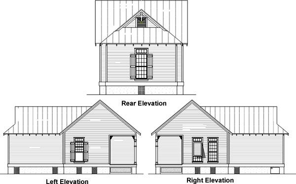 Rear Elevation Plan: 30-101