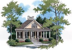 Southern Style Home Design Plan: 30-104