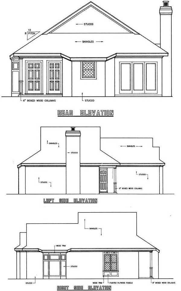 Rear Elevation Plan: 30-106