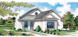 Cottage Style Home Design Plan: 30-106