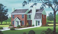 Traditional Style Home Design Plan: 30-112