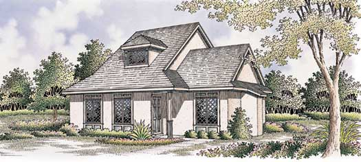Cottage Style Home Design Plan: 30-118