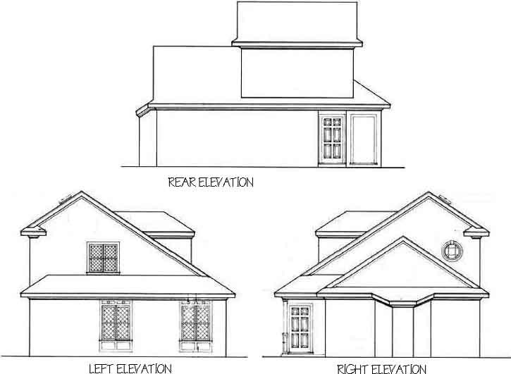Rear Elevation Plan: 30-118