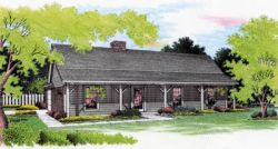 Country Style Home Design Plan: 30-129