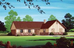 Traditional Style Home Design Plan: 30-136