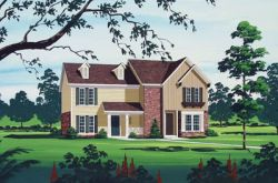 Traditional Style Home Design Plan: 30-137