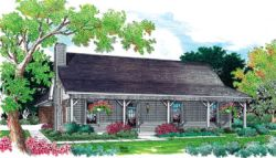 Country Style Home Design Plan: 30-141