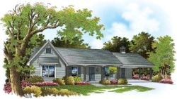 Ranch Style Home Design Plan: 30-148