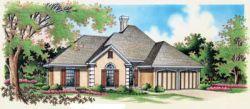 European Style Home Design Plan: 30-169