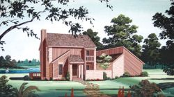 Contemporary Style Home Design Plan: 30-170