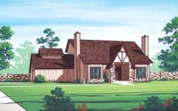 English-Country Style Home Design Plan: 30-179
