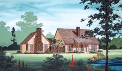 Country Style Home Design Plan: 30-181