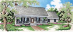 Country Style Home Design Plan: 30-184